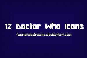 12 Doctor Who Icons by faerietaledreams