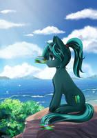 Pony at the sea + animation by LifeJoyArt