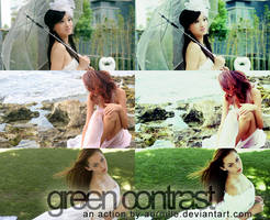 green contrast action by auroille