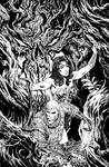 Wonder Woman issue 5 cover BW