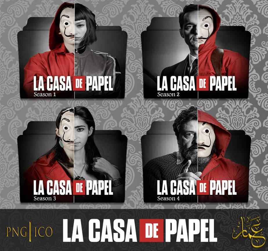 La Casa de Papel ( Money Heist ) S1-S4 Folder Icon by AmmarKolen on