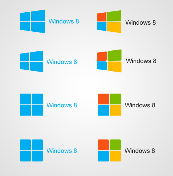Free Vector PSD with Windows 8 Logo by eds-danny