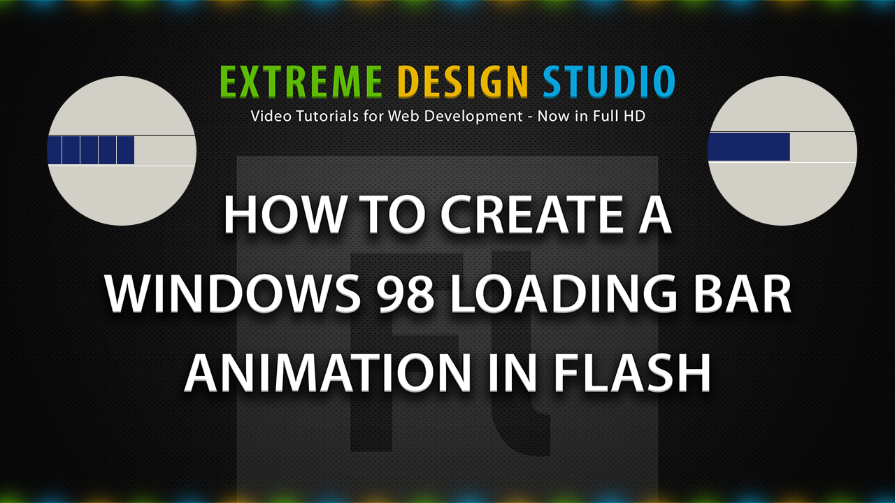Create a Windows 98 Loading Bar Animation in Flash by eds