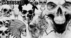 BRUSHES SKULLS PHOTOSHOP #02