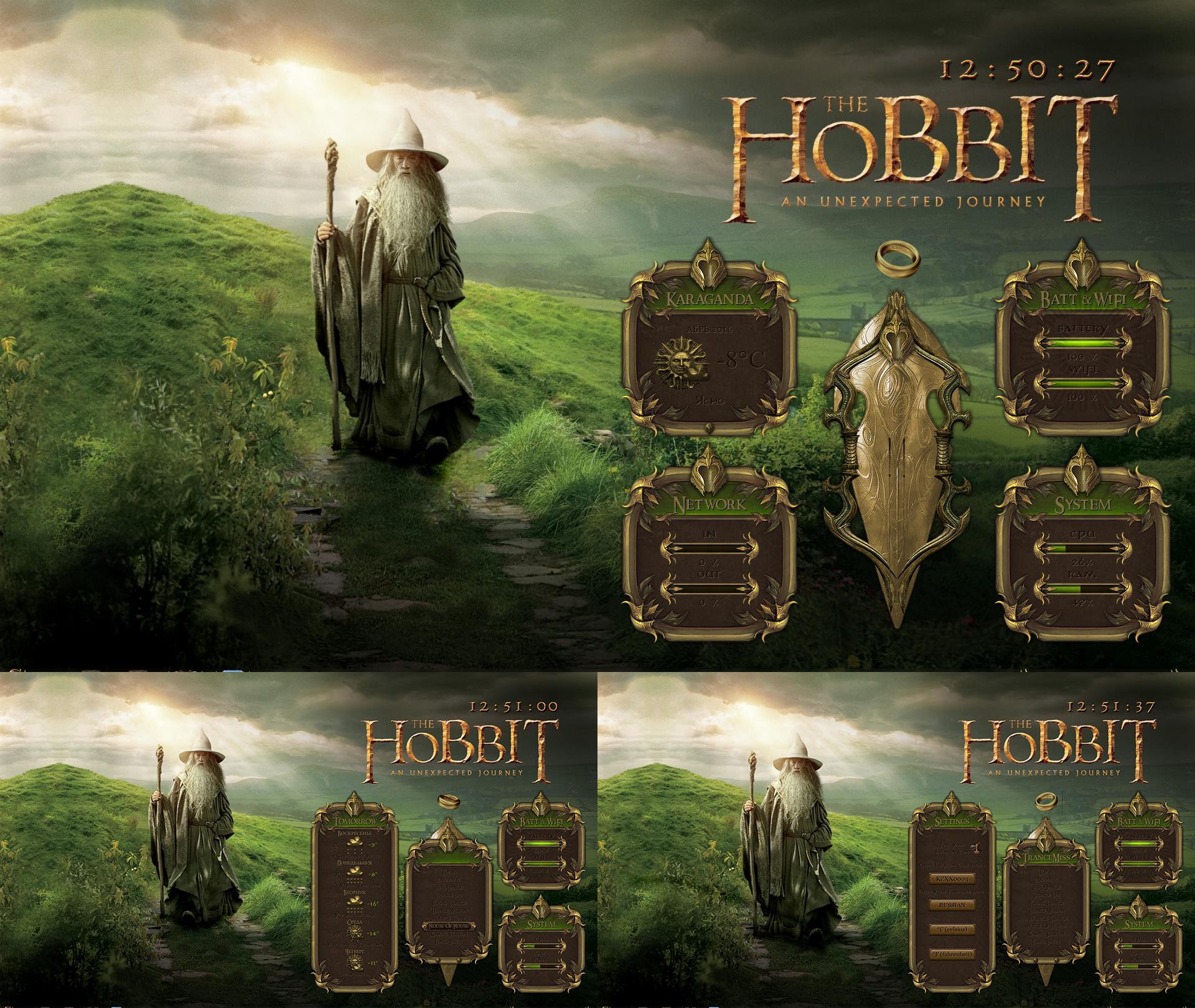 Hobbit gmail theme - Hobbit Full Hd Theme For Rainmeter By Orthodoxx67