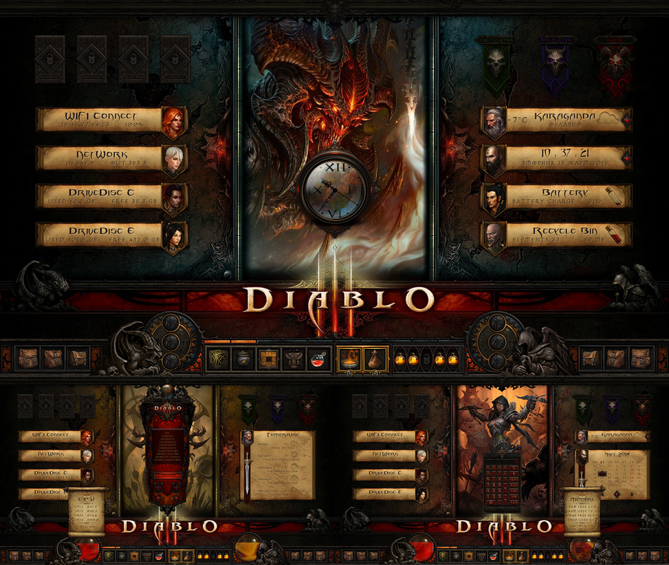 Diablo 3 Wallpaper 1920x1080: DIABLO III Theme For Rainmeter By ORTHODOXX67 On DeviantArt