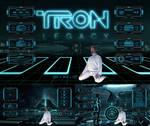 TRON legacy (theme for RAINMETER)