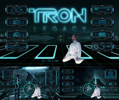 TRON legacy (theme for RAINMETER)