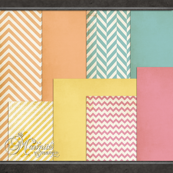 Candy Girl Papers by DaydreamersDesigns
