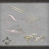 Ethreal Scroll Elements by DaydreamersDesigns