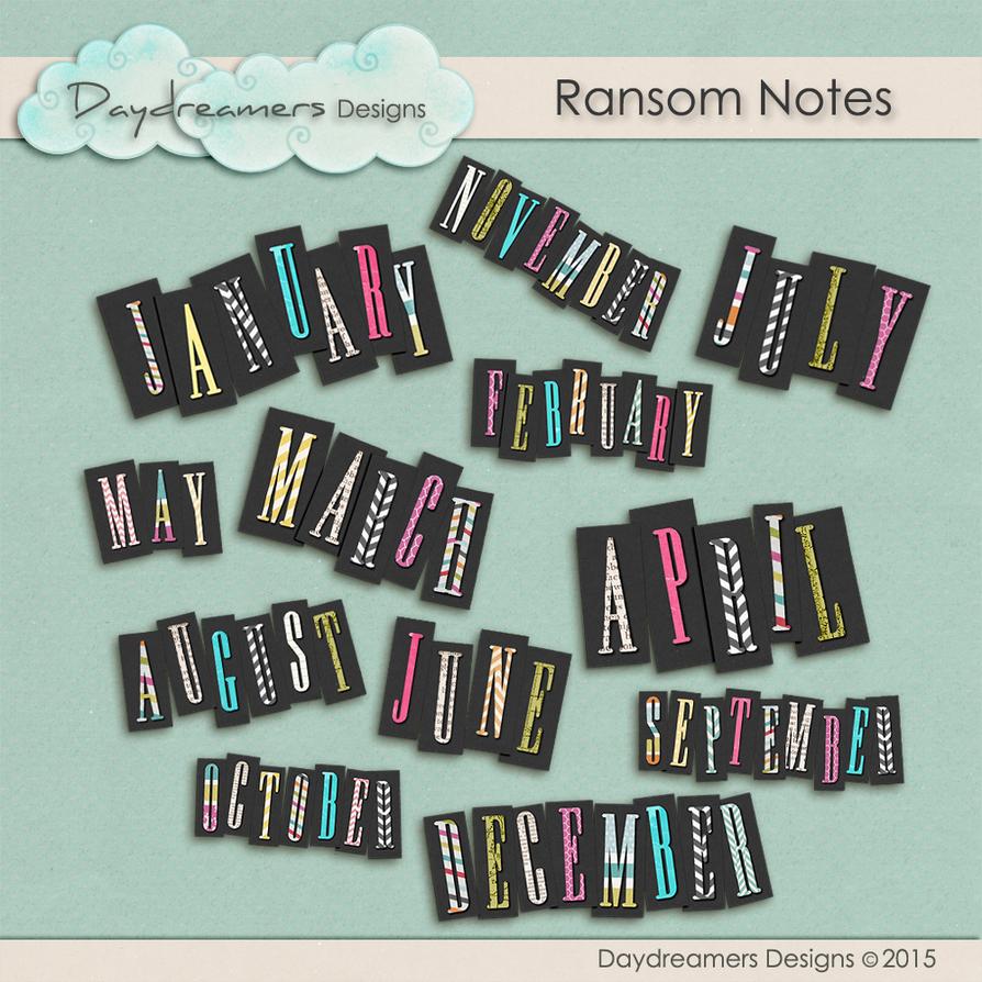Ransom Note by DaydreamersDesigns