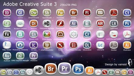 Adobe CS3 Dock icons by vainsid