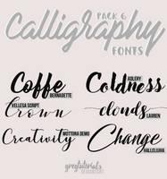 Pack 6 Calligraphy Fonts - Gregtutorials