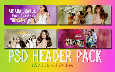 PSD Header Pack by ddlovatoPillows