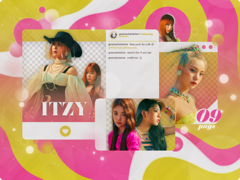 #070 PNG PACK: ITZY (NOT SHY)