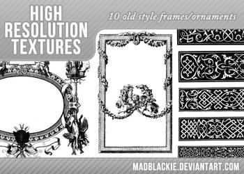10 OLD STYLE FRAMES/ORNAMENTS