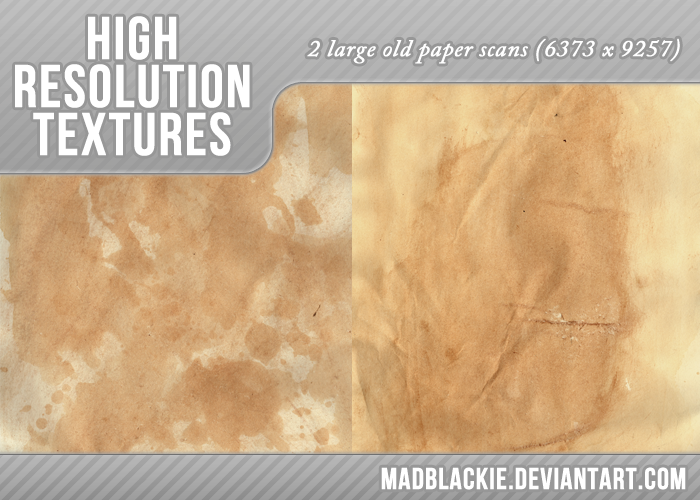 2 OLD PAPER TEXTURES by MadBlackie