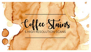 COFFEE STAINS 5 high resolution scans