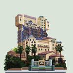 DCA Tower of Terror pixel art