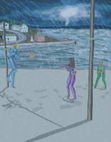 Rain Storm Volleyball by DungeonWarden