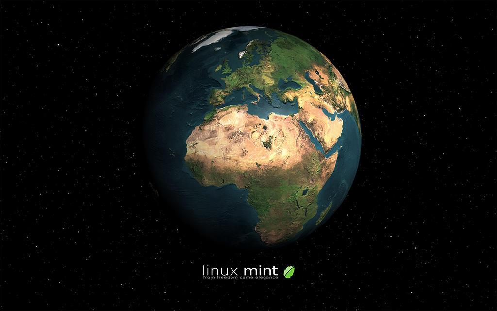 Linux Mint Earth By Jernau