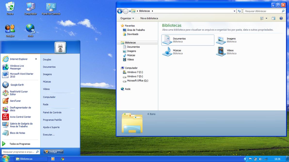 Как сделать мой windows xp