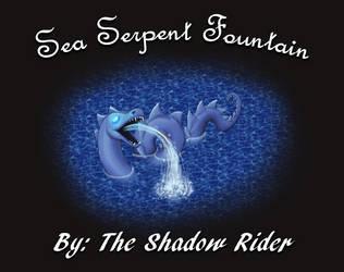 Animated Sea Serpent Fountain by AnScathMarcach