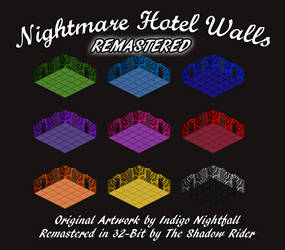 Nightmare Hotel Walls - REMASTERED 32-BIT by AnScathMarcach