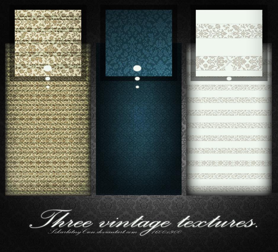 Three vintahe textures by SzkarlatnyCien