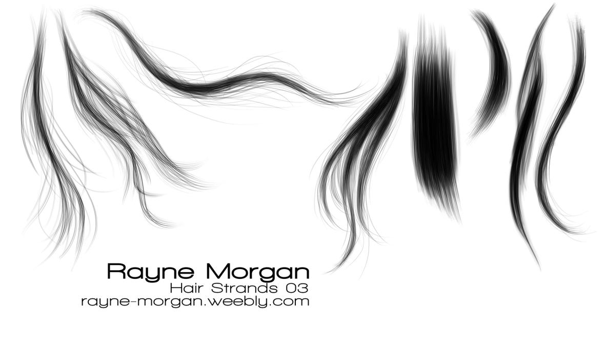 Free photoshop brushes hair strands