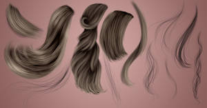 RM - Hair Strands 17 by RayneMorgan