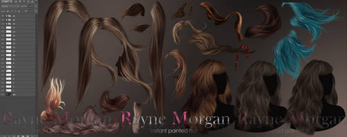 RM - Instant Painted Hair Collection 05 by RayneMorgan