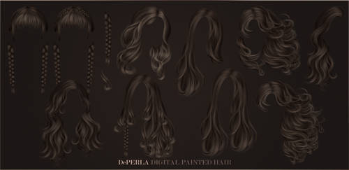 DePERLA Digital Painted Hair - Collection 02 by RayneMorgan