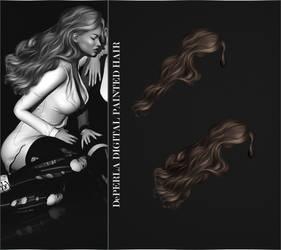 DePERLA Digital Painted Hair 02 by RayneMorgan