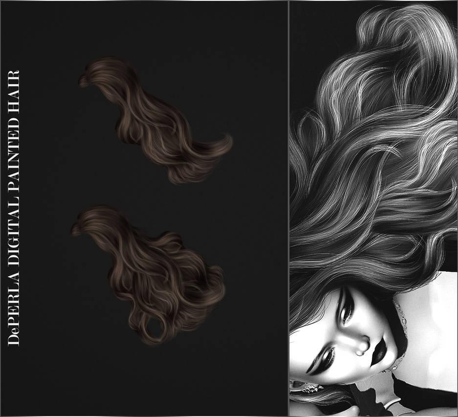 DePERLA Digital Painted Hair 03 by RayneMorgan