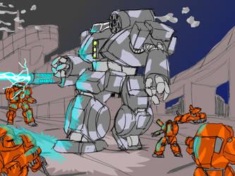Surrounded Thunderbolt - Battletech test Gif by jaromcswenson