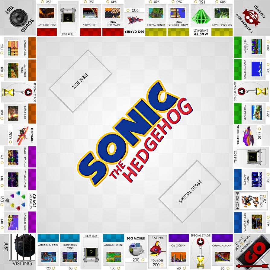 Sonic The Hedgehog Monopoly by darkfailure