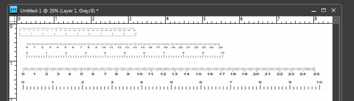 how to draw rulers in photoshop
