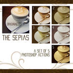 the sepias - 5 ps actions