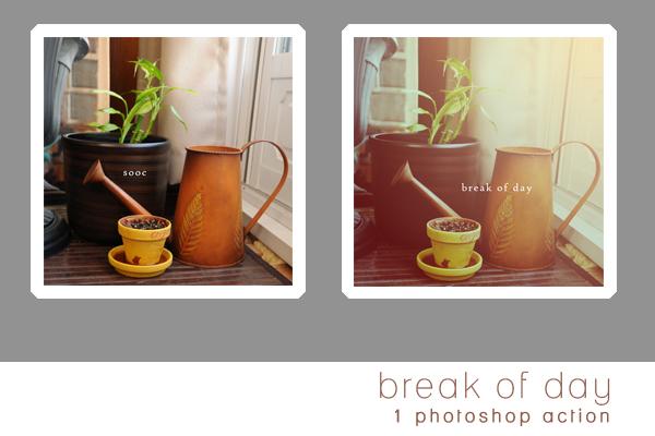break of day photoshop action