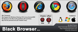 Black Browser Icons
