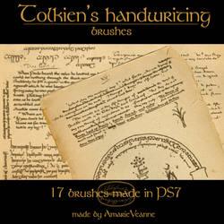 Tolkien's handwriting brushes
