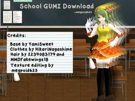 [MMD] Schoolgirl GUMI Download by megpoid625
