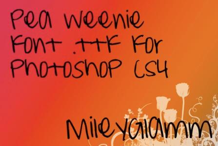 Pea Weenie Font by MileyGlamm