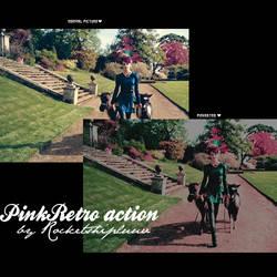 pinkretro action by rocketshipLuuv