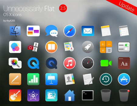 Unnecessarily Flat v2.5 - icon set