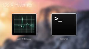 OS X Yosemite icons:Activity Monitor, Terminal