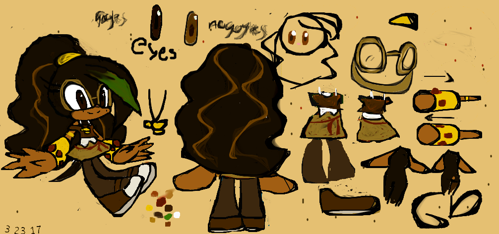Ginger's Reference Sheet and BIO by GenieDust7766