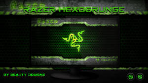 Razer HexoGrunge Wallpaper - By BeautyDesignz