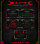 Project-X Rainmeter Skin - By BeautyDesignZ